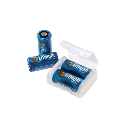 ASP CR123A Lithium Batteries - 12 & Link Case (Box)