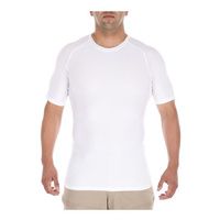 5.11 Tactical Tight Crew Short Sleeve Shirt - White - Small
