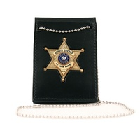 Boston Leather - VALUE BADGE HOLDER W/ NECK CHA