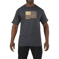 5.11 Tactical Recon Rope Ready T-Shirt - Charcoal Heather - Large