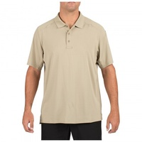 5.11 Tactical Helios Polo Short Sleeve - Silver Tan - Large