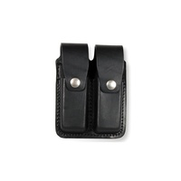 Boston Leather - DOUB MAG POUCH 9MM PL BL BASK