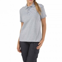 5.11 Tactical WoMen's Short Sleeve Tactical Polo - Heather Grey - Large