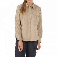 5.11 Tactical WoMen's Taclite Pro Long Sleeve Shirt - TDU Khaki - Large