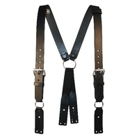 Boston Leather - FIREMAN'S LEATHR SUSPENDERS XL