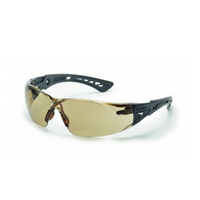 Bolle RUSH Safety Glasses - Black/Gray - Clear Lens