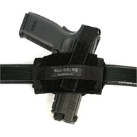BlackHawk Nylon Ambidextrous Flat Belt Holster - Black - Most Pistols & Small/Medium Revolvers