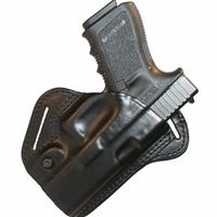 BlackHawk Leather Check Six Holster - Black - Glock 17/19/22/23 - Right