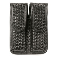 Blackhawk Double Mag pouch (Double Row) Cordura - Black, Molded Nylon, Basketweave