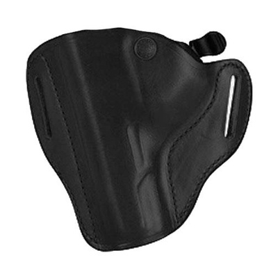 Bianchi Carrylok Auto Retention Leather Holster 13B / GLOCK / 20, 21, 37- Plain Black- Right Hand