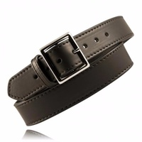 Boston Leather - GARRISON BELT WITH STITCHED EDGE