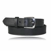 Boston Leather - Dress Belt W/ Stitched Edge 1.5  Wide