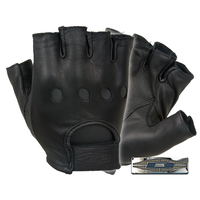 Damascus - Leather Driving Gloves (Half Finger)