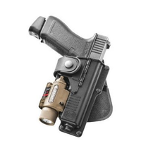 Fobus Tactical Glock 17,22,31 with Laser or Light, hinged for natural draw
