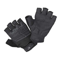 Hatch Special Unit Bike Patrol Half Finger Black Gloves