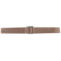 TruSpec 24-7 2 Ply Range Belt - Silver Buckle - Tan - Large