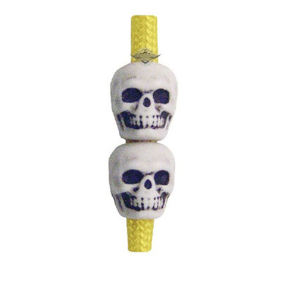 5Ive Star Gear - SKULL BEADS, ANTIQUE WHITE (50 Pack)