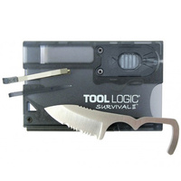 Tool Logic Survival Card w/ Fire Starter/Light - Charcoal