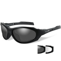 Wiley X 1 Advance Goggles - Smoke Grey/Clear/Matte Black Lens