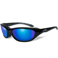 Wiley X Airrage Goggles - Gloss Black Frame / Polarized Blue Mirror