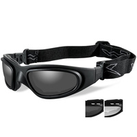 Wiley X SG-1 Goggles - Smoke/Clear V-Cut/Matte Black