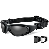 Wiley X SG-1 Goggles - Smoke/Clear Matte Black