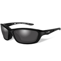 Wiley X Brick Glasses - Gloss Black Frame / Polarized Smoke Grey Lens