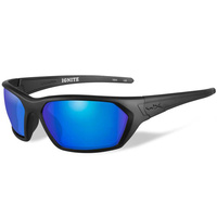Wiley X Ignite Glasses - Polarized Blue Mirror / Matte Black