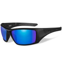 Wiley X Nash Glasses - Polarized Blue Mirror / Matte Black