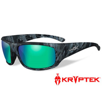Wiley X Omega - Polarized Emerald Green Mirror - Kryptek Neptune Frame