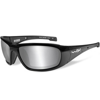 Wiley X Boss - Silver Flash Grey Lens - Gloss Black Frame
