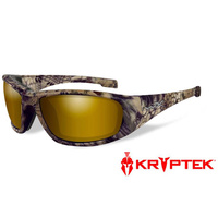 Wiley X Boss - Polarized Venice Gold Mirror - Kryptek Highlander Frame