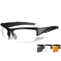 Wiley X Valor Glasses - Matte Black Frame / Smoke Grey, Clear, Light Rust Lens
