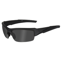 Wiley X Valor Glasses - Matte Black Frame / Polarized Smoke Grey Lens