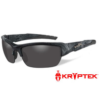 Wiley X Valor Glasses - Polarized Smoke Grey / Kryptek Typhon Frame