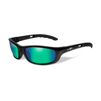 Wiley X P-17 Glasses - Emerald Mirror - Polarized Amber