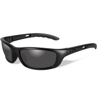 Wiley X P-17 Glasses - Black Ops / Smoke Grey / Matte Black
