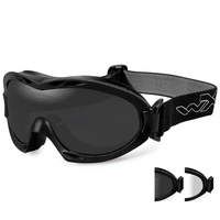 Wiley X Nerve Glasses - Smoke Grey/Clear - Matte Black