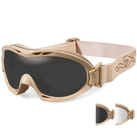 Wiley X Nerve Glasses - Smoke Grey/Clear - Tan