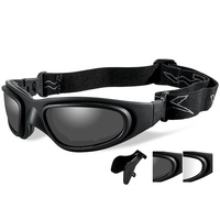 Wiley X SG-1 Goggles - Smoke Grey Lens - Clear Asian Fit