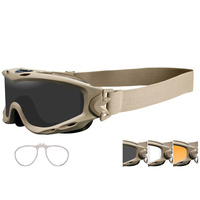 Wiley X Spear Goggle - Tan Smoke Grey / Clear / Light Rust / RX Insert