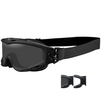 Wiley X Spear Goggle - Matte Black - Smoke Grey / Clear