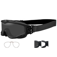Wiley X Spear Goggle - Matte Black Smoke Grey / Clear / RX Insert
