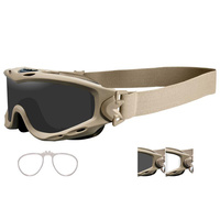 Wiley X Spear Goggle - Tan Smoke Grey / Clear / RX Insert