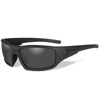 Wiley X Censor Sunglasses Polarized Smoke Grey Lens Matte Black Frame