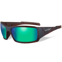 Wiley X Twisted SST - Polarized Emerald Green / Matte Hickory Brown