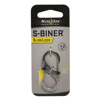 Nite-Ize SlideLock Steel S-Biner - # 2 Stainless