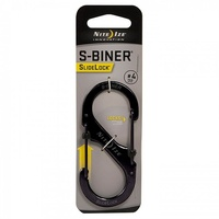 Nite-Ize SlideLock Steel S-Biner - # 4 Black