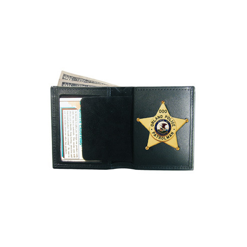 Boston Leather - 150 Book Style Badge Wallet