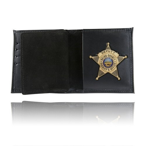 Boston Leather - BADGE CASE WALLET SOFT BROWN